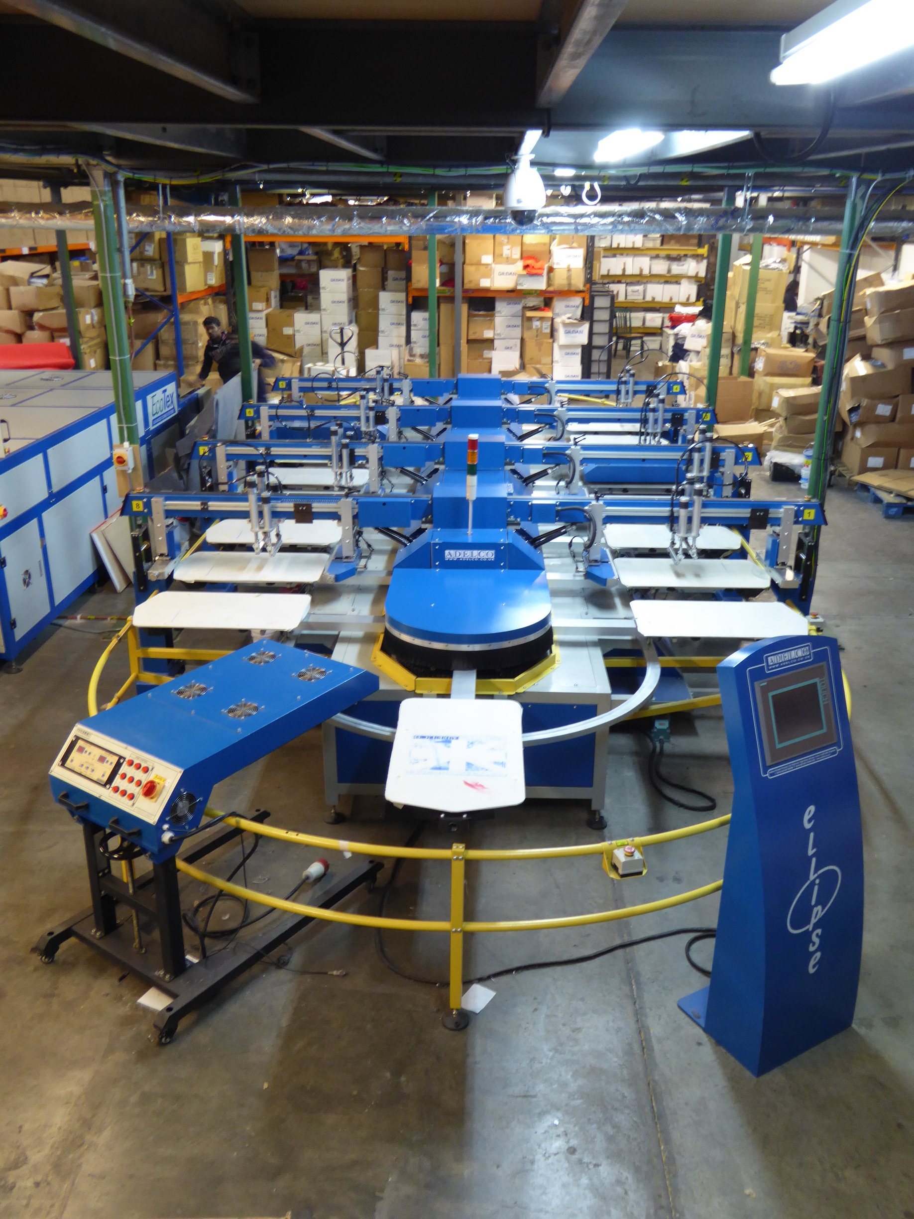 Adelco Ellipse Oval Automatic print machines